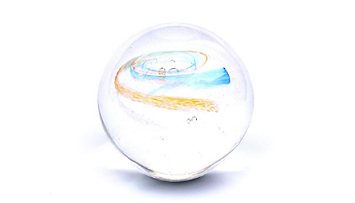 Memorial Glass Orb - Galaxy Image