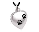 Heart Pendant With Paws Image